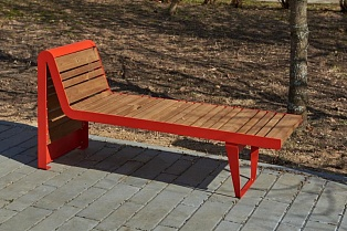 Bench «Infinity wood» (Sun louger)
