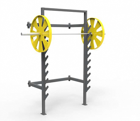 Rack for barbell